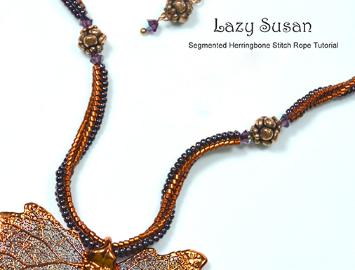 Sue Neel Herringbone Stitch Rope Necklace